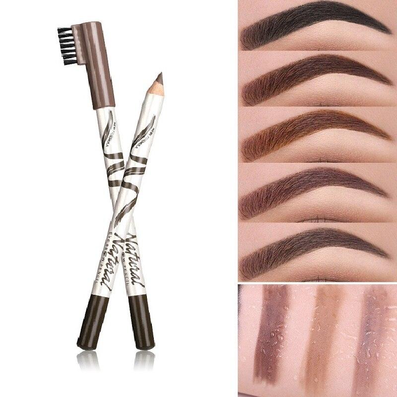 Карандаш для бровей водостойкий коричневый, тату для бровей, маркер для бровей, краситель, тинт-подводка, легкое нанесение макияжа глаз