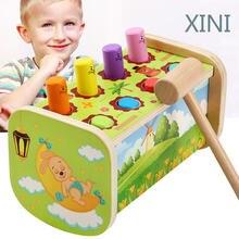Скамейка для младенцев деревянная детская Дошкольная игрушка