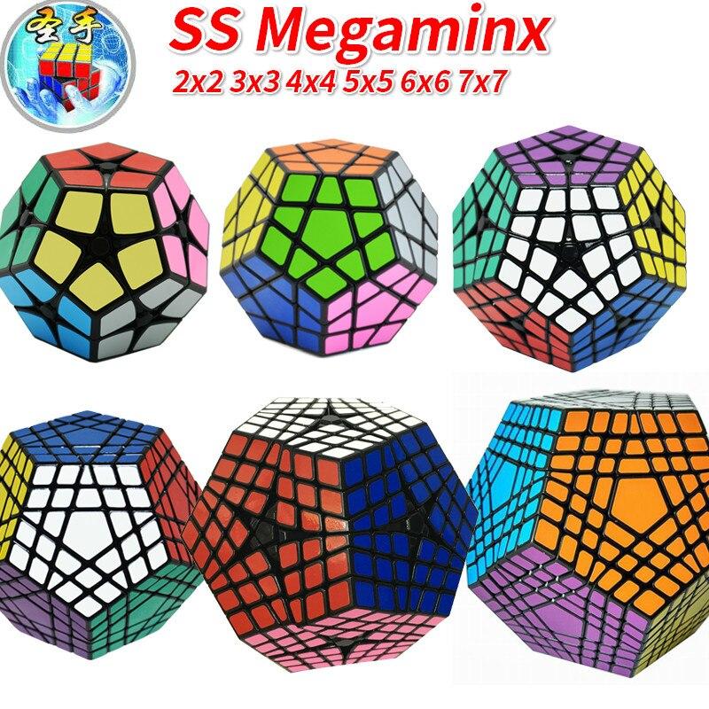 Shengshou Magic Cube Puzzle SengSo Mega Cube 2x2 3x3 4x4 5x5 6x6 7x7 Dodecahedron Megaminxeds Masterkilomin YesElite Kilominx