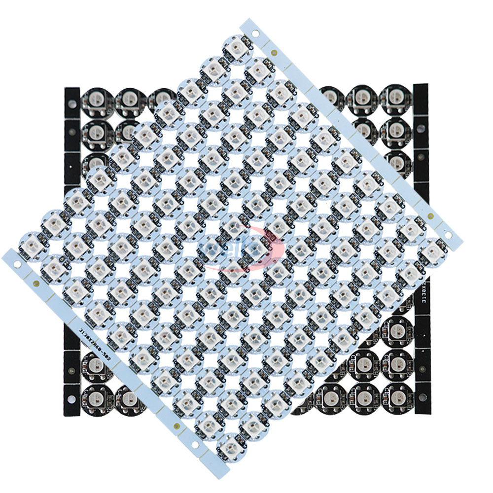 50~1000pcs LED Board Heatsink WS2812B LED Chips (10mm*3mm) WS2811 IC 2812 Built-in 5050 SMD RGB; Black/White;DC5V