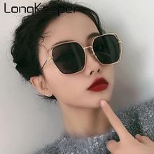 Fashion Oversized Polygonal Sunglasses Women Brand Designer Metal Sun Glasses Female Shades Mirror Eyewear Oculos UV400