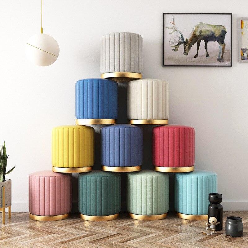 Sofa Light Luxury Make-Up Fashion Cloth Art Ins Low Mesa Y Silla Infantil Nordic Dressing Chair Household Shoe Stool Bedroom