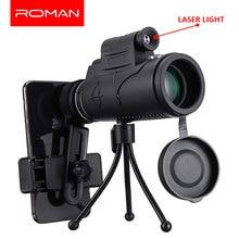 40X60 Zoom Laser/LED Monocular Telescope Telephoto Phone Camera Lens Tripod Kit Day & Night Vision HD Optics Zoom Telescope Lens цена и фото