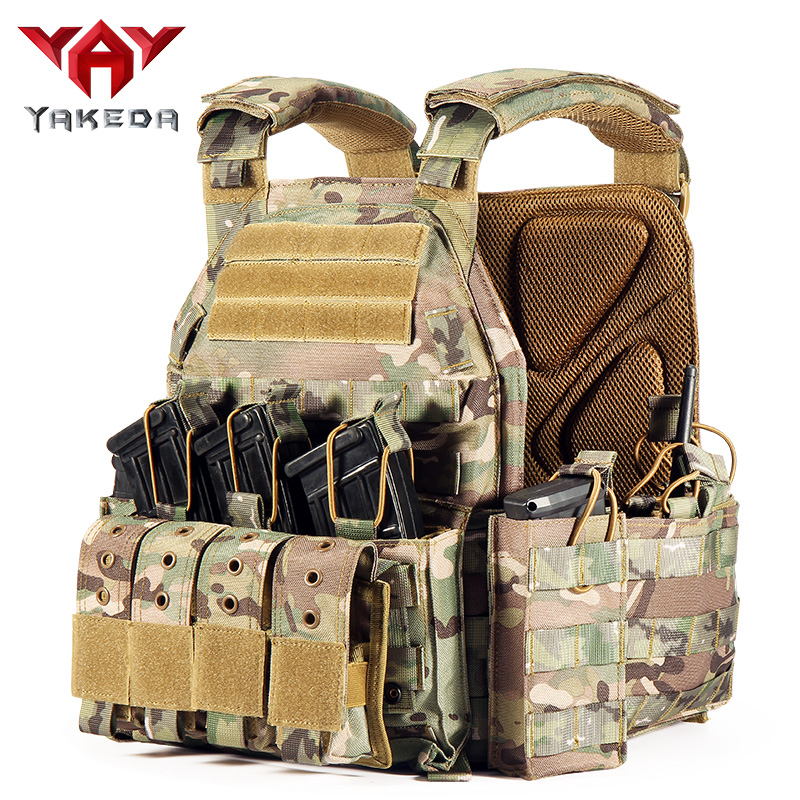 YAKEDA 1000D Nylon Plate Carrier Tactical Vest Outdoor Hunting Protective Adjustable MODULAR Vest For Airsoft Combat Accessories