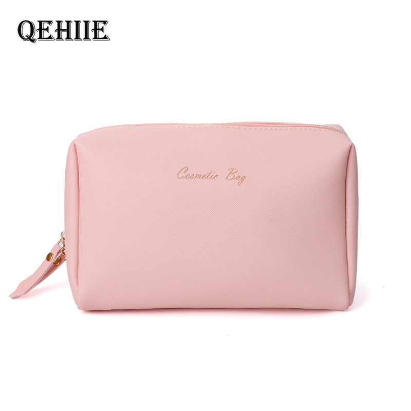 Women Cosmetic Bag For Makeup Pouch Female Portable Beauty Toiletry Travel Organizer Case Ladies Big Gold Silver Makeup Bag 2019