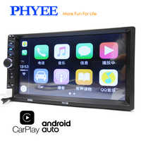 "2 Din Carplay Autoradio Android Auto Bluetooth Stereo Audio Video MP5 Player Freisprecheinrichtung USB 7 ""Touchscreen Kopf Einheit PHYEE 7013B"