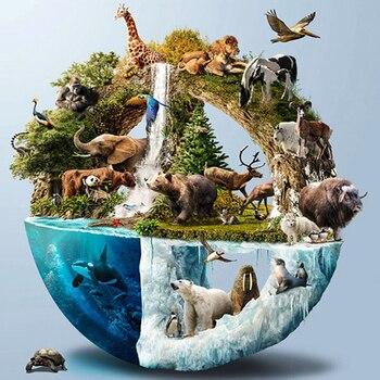 DIY Diamond Painting 5D Full Cross Embroidery Same Earth Animal Decorative Mosaic