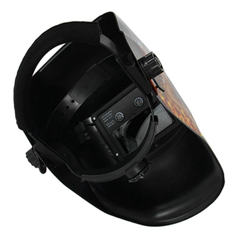 GTBL kask spawalniczy Solar automatyczne przyciemnianie do spawania mig tig ARC maska spawalnicza płomień i dziewczyna GS8D