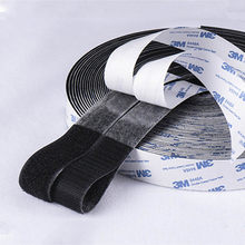 1Meter Strong Self Adhesive Glue Hook And Loop Fastener Tape Nylon Sticker Velcros Adhesive For DIY Accessories 16/20/30/38/50mm