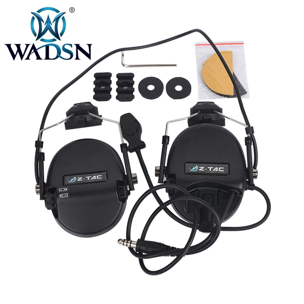 Image 3 - WADSN Sordin Headset Noise Canceling Earphone With FAST Helmet Rail Adapter Set For Military Airsoft Hunting Headphone WZ034-in Tactical Headsets & Accessories from Sports & Entertainment