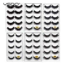 YSDO Lashes 1 box mink eyelashes natural long 3d mink lashes hand made false lashes plastic cotton stalk makeup false eyelash G8