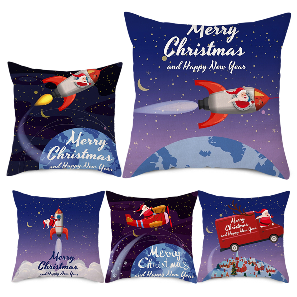 Nanacoba зимний мягкий плюшевый чехол для подушки с рождеством