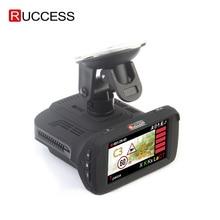 Ambarella A7LA50 3 In 1 GPS araba dvrı araba kamera, Anti Radar araba dedektörü çizgi kam video kaydedici 1296p Speedcam HD 1080p Strelka