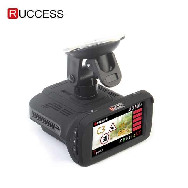 Ambarella a7la50 3 em 1 gps carro dvr câmera do carro anti radar carro detector traço cam gravador de vídeo 1296p speedcam hd 1080p strelka