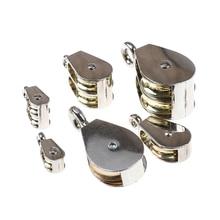 36/52/75 мм металлический шкив цинковый сплав фиксированный шкив Корона блок и снасти подъемное колесо мини одиночный/двойной шкив для DIY