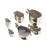 36/52/75mm metalowy koła pasowego ze stopu cynku stałe koła pasowego korona bloku i rozwiązania podnoszenia koła Mini pojedyncze/podwójne koło pasowe dla DIY w Narzędzia i akcesoria do podnoszenia od Narzędzia na