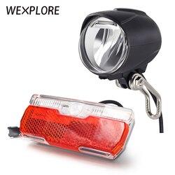 WEXPLORE Ebike ışık far ve arka lambası seti için uygun giriş 24V 36V 48V Led lamba elektrikli bisiklet ışığı Scooter