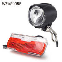 WEXPLORE Ebike Light With Headlight And Taillight Set Suitable for Input 24V 36V 48V Led Lamp Electric Bicycle Light Scooter
