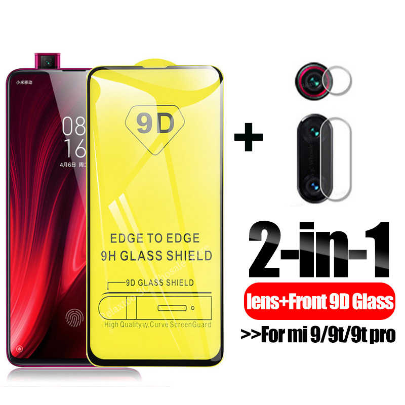 9D מלא דבק זכוכית מגן עבור xiaomi mi 9t מצלמה עדשת מסך מגן על xio mi mi 9 9 T mi 9 T פרו מזג גלאס כיסוי סרט