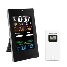 Digital Weather Station Wireless Colorful Touch Screen Wall Clock Indoor Outdoor Moisture Temperature Meter 3389 Usb