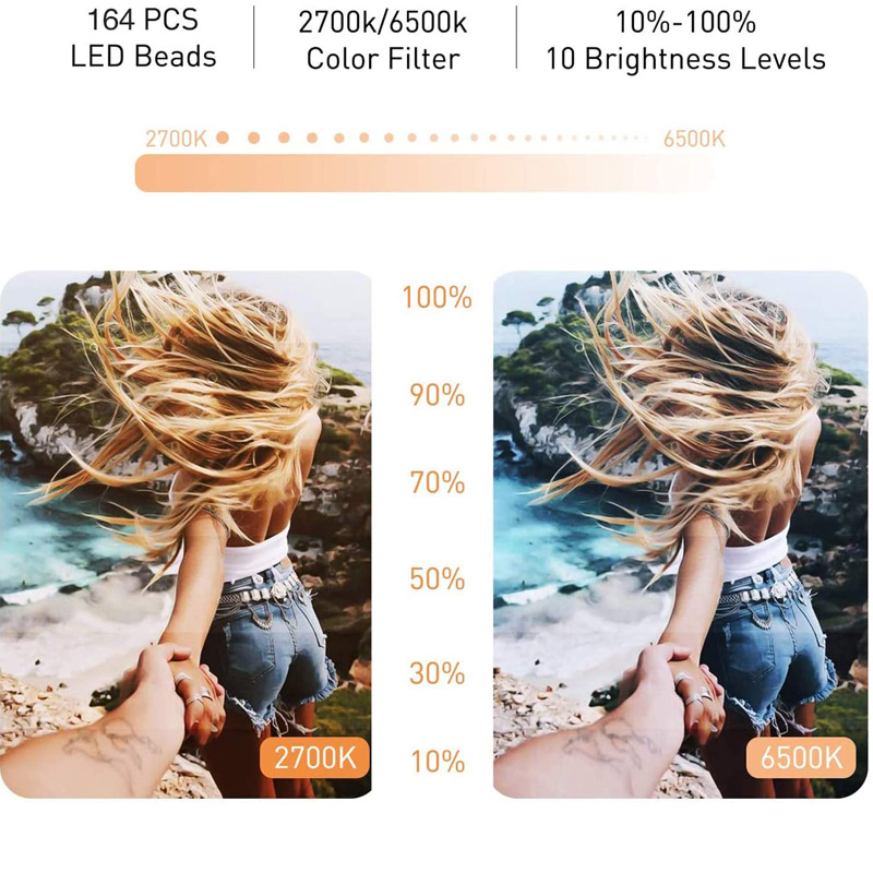 H270d798a19094e95945a8f511ab64685C Video Lights Dimmable Light Selfie LED Ring Light USB Ring Lamp With Tripod Stand Rim Of Light To Make TikTok Youtube ringlight