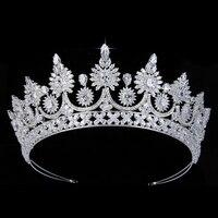 Headpiece And Crown HADIYANA Charming Gorgeous Zircon Women Party Wedding Hair Accessories BC5309 Accesorios para el cabello