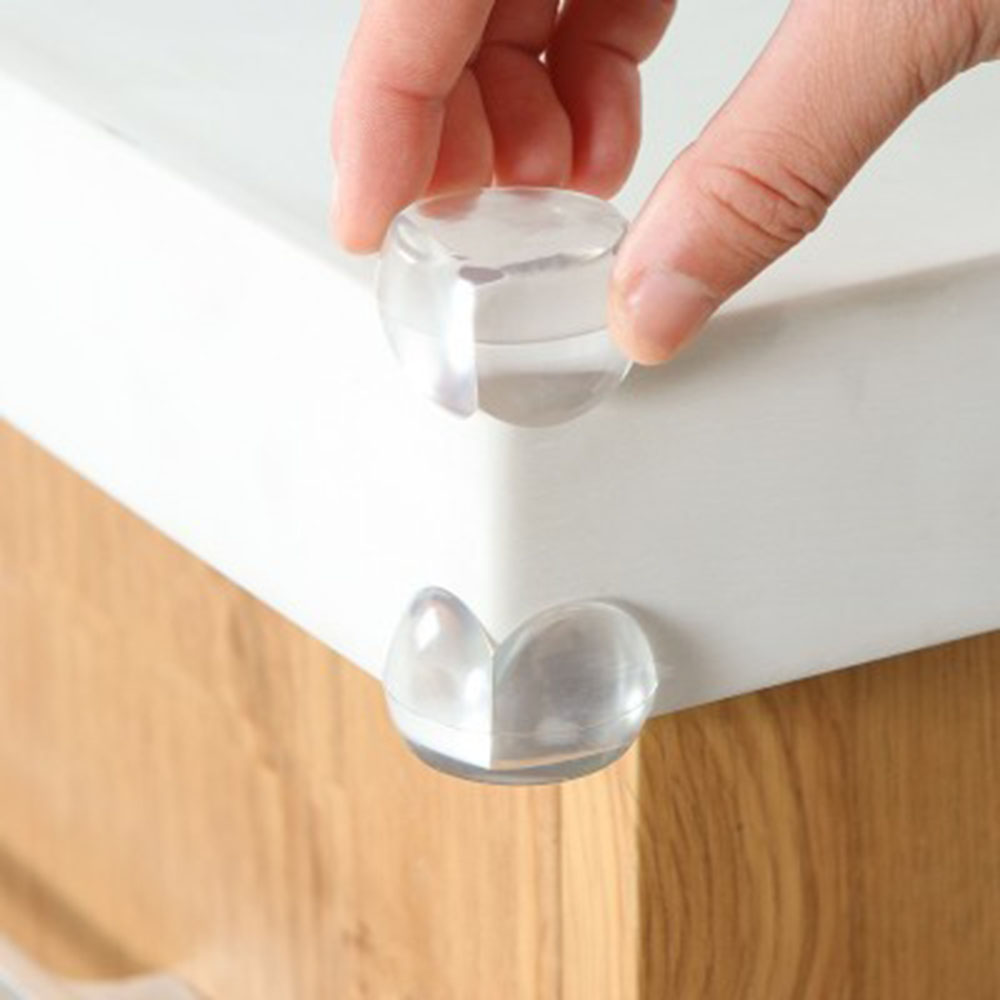 4PCS Baby Safety Table Corner Protective Corner Collision Protection Cover Baby Glass Corner Transparent Anti-collision Corner