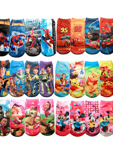 Boys Socks Spiderman 3d-Print Funny Winnie Micky Kids Masha Cartoon Minne New 4pair/Bag