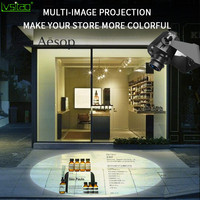 Multi map Switching Customized advertising GOBO logo Projector Light for indoor outdoor 35w 4pictures rotation projection lamp