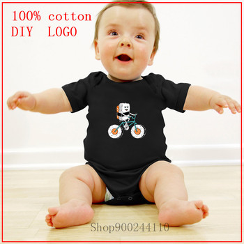 2020 Newborn Baby Clothes Short Sleeve Girl Boy Clothing Bodysuits baby Sushi Bicycle new born baby boy clothes 3 to 6 months image
