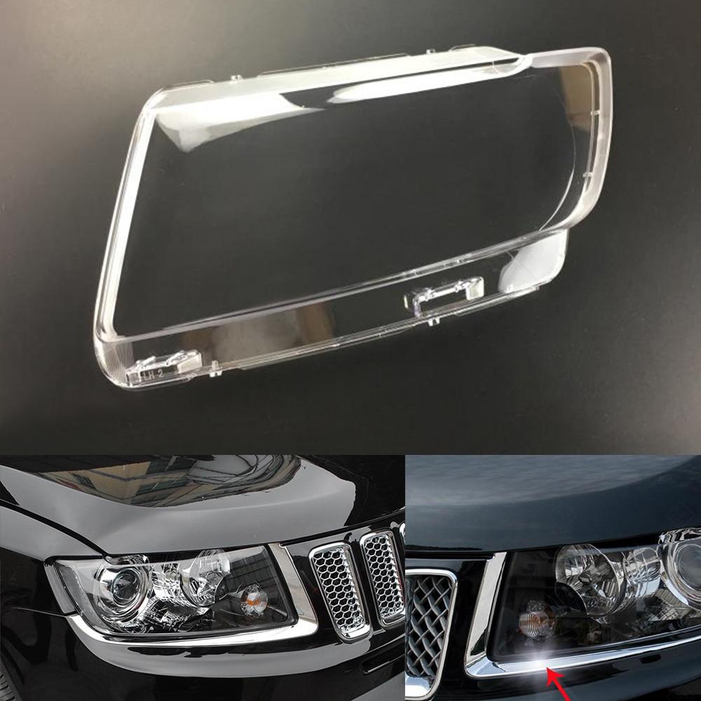 Pour Jeep boussole 2011 2012 2013 2014 2015 phare de voiture phare clair lentille Auto coque couverture