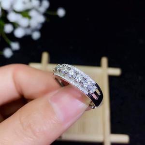 Image 3 - مويسانيتي جميلة موضوع حلقة ، 925 شكل مُعين من الفضة الاسترليني عصابة. مجوهرات الأزياء ،