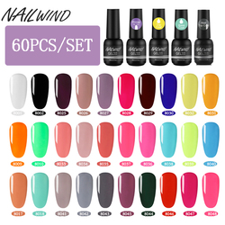 Nailwind Manicure Set 60 Stks/set 8 Ml Gel Nagellak Nail Set Voor Manicure Kit Gel Vernissen Semi Permanente Pure kleur Uv Gel
