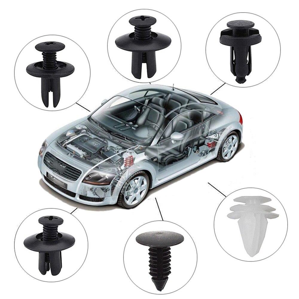6 размеров, 100 шт., автомобильный крепежный зажим, смешанный фиксатор для кузова автомобиля, заклепки бампера, накладка на дверь, комплект фиксаторов