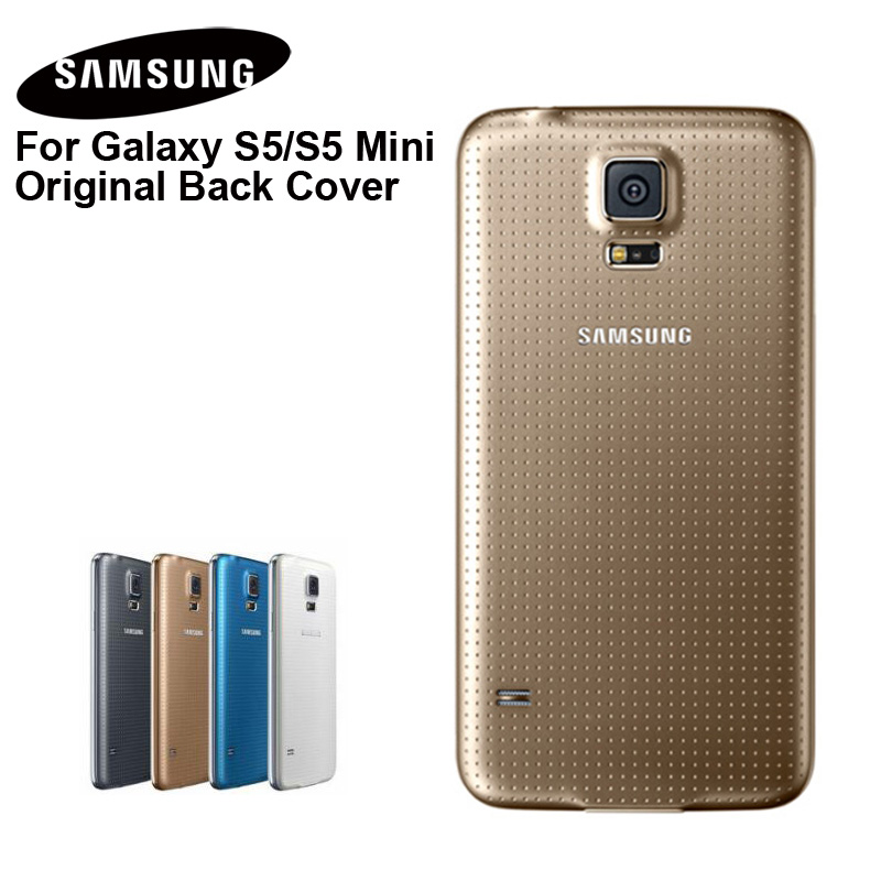 <font><b>Samsung</b></font> Original Phone Rear Battery Door for <font><b>Samsung</b></font> <font><b>GALAXY</b></font> <font><b>S5</b></font> G900S <font><b>G900F</b></font> G9008V G9006V G870a G870W S5MINI Housing Backshell image