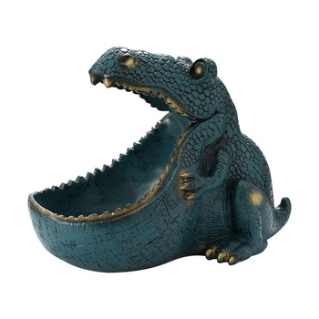 Nordic Dinosaur Storage Figurines Ornaments Candy Holder Rack Sundries Holders Miniature Model Home Decoration Living Room Gift
