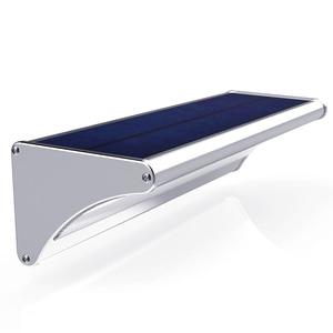 Image 1 - Lampada solare a LED per esterni a luce solare con sensore di movimento alluminio 24/48/60LED illuminazione da parete per giardino a luce solare impermeabile