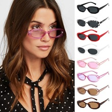 Pink Retro Sunglasses Oval Sunglasses Women Retro Brand Designer Vintage Ladies Cat Eye Pink Sun Glasses tide brand pilots in same silver frog mirror retro sunglasses for men and women big yards sunglasses color polariscope authtic