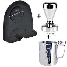 Pad Hammer Coffee Tamper Pressure-Mat Stainless-Steel Aluminum 350ml Pull-Cup Milk-Pot