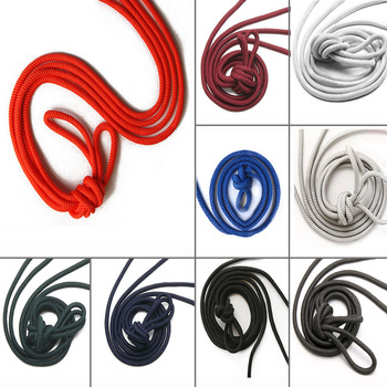 110cm 1Pair Round Solid Shoelaces Polyester Shoes Lace Classic Shoelace Sneakers Boots String Rope Red Black