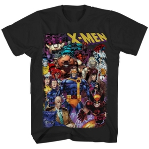 X-Men 90 Heroes Villains All In Officially Licensed Adult T-Shirt Cotton Tee Shirt Streetwear Casual
