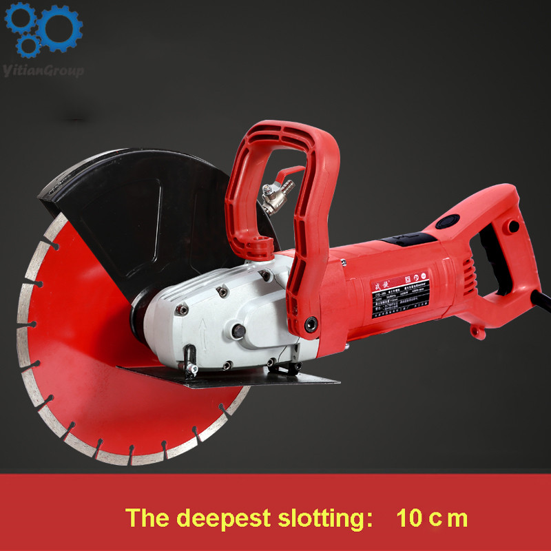 Z1E-305 Multi-function Wall Slotting Machine Electric Slotting Machine Concrete Cutting Machine + Diamond Saw Blade 220V 3000W