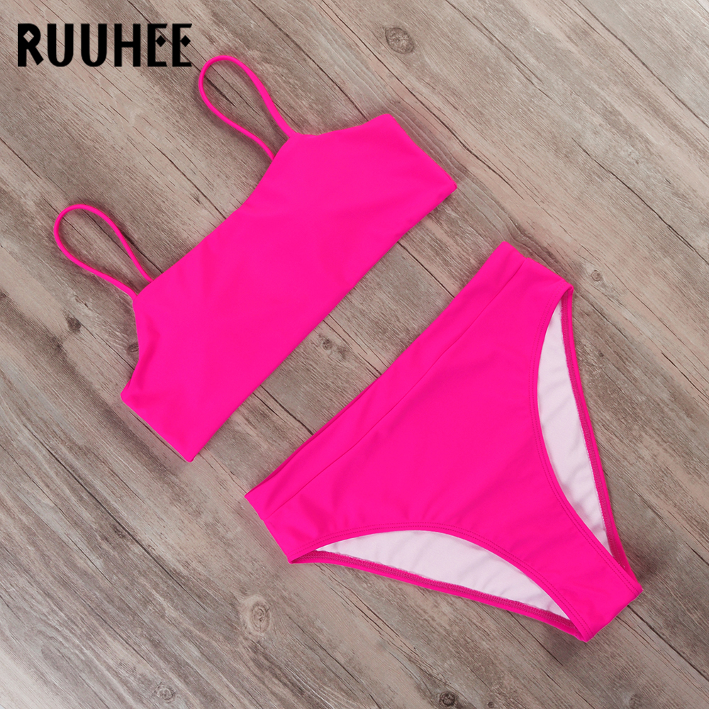 RUUHEE Swimsuit Women Bikini 2019 Swimwear Bathing Suit Women Sport Top High Waist Bikini Set Push Up Female Summer Beachwear