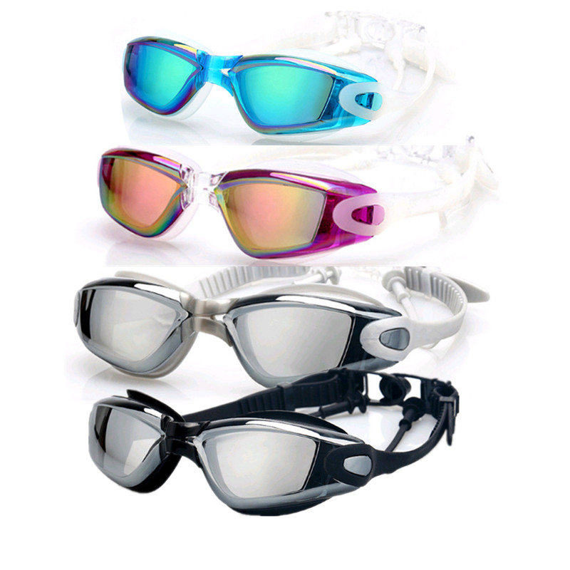 1 Pair Electroplating UV Waterproof Anti Fog Swimwear Eyewear Swim Diving Water Glasses Adjustable Swimming Goggles For Adults