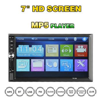 """7012B 7"""" Inch DOUBLE 2DIN Car MP5 Player BT Touch Screen Stereo Radio Multimedia player MP5 Player With 4 Light Camera"""