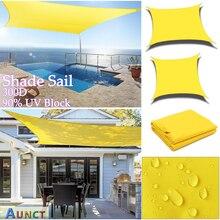 Yellow 300D Waterproof Shade Sail Square Rectangle sunshade garden terrace Canopy swimming Sun shade Camping Yard sail awning