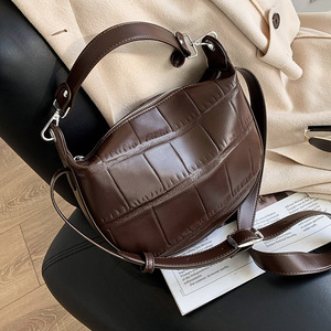 Vintage Stone Pattern Small PU Leather Crossbody Bags for Women 2021 Winter Shoulder Cross Body Bag Ladies Handbags and Purses