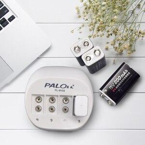 Image 3 - PALO 4 Slot 9V Batteria di Vendita Calda del Caricatore Intelligente Ricaricabile Intelligente Caricabatterie Rapido Per 6F22 9V Batteria Al Litio EU/Spina DEGLI STATI UNITI
