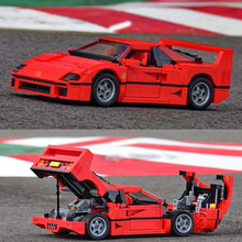 F40 Car Speed champion creator expert Blocks Sports supercars Car model Building Blocks Compatible Lepinblocks 10248 Car Toy