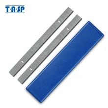 "TASP cuchillas Cepilladoras de espesor HSS, 8 "", 210mm, 210x16,5x1,5mm, cuchillo cepillador de madera para Einhell Erbauer, piezas de herramientas eléctricas para carpintería"